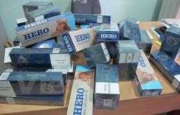 Bắt giữ đối tượng vận chuyển 350 bao thuốc lá ngoại nhập lậu