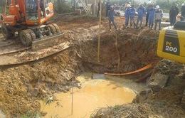 Vỡ đường ốngSông Đàlần thứ 10, 70.000 hộ dân mất nước sinh hoạt