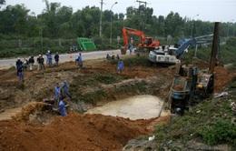 Đường ống sông Đà lại gặp sự cố