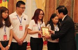 Chủ tịch nước Trương Tấn Sang gặp mặt đại biểu thanh niên kiều bào