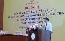 Triển khai tuyên truyền kỷ niệm 70 năm ngày tổng tuyển cử đầu tiên
