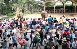 TP.HCM: Du khách đổ về các khu vui chơi giải trí