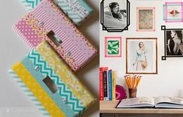 Trang trí nhà và đồ vật đơn giản với băng dính màu