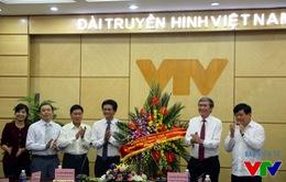 Trưởng ban Tuyên giáo Trung ương Đinh Thế Huynh tới thăm Đài THVN