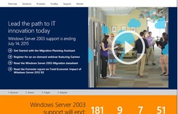 Microsoft ngừng hỗ trợ Windows Server 2003