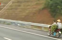 Khó xử lý xe máy đi vào đường cao tốc