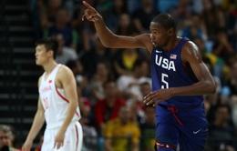 Olympic 2016: Kevin Durant tỏa sáng, ĐT bóng rổ Mỹ vùi dập Trung Quốc