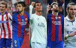 Bảng xếp hạng 19 cầu thủ xuất sắc nhất của cuộc bầu chọn Quả bóng Vàng 2016