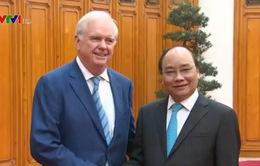 Thủ tướng Nguyễn Xuân Phúc tiếp Giáo sư Thomas Vallely, Đại học Harvard