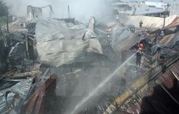 Bình Phước: Cháy nhà máy chế biến mủ cao su, thiệt hại hơn 8 tỉ đồng