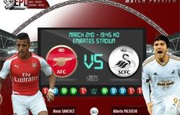 Arsenal – Swansea City: Cơ hội không được bỏ lỡ (3h00, 3/3, TTTV)