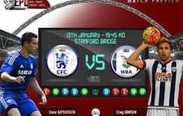 Chelsea – West Bromwich Albion (02h45 ngày 14/01): Tiếp tục bay cao cùng Guus Hiddink?!
