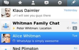WhatsApp cập nhật phiên bản mới trên BlackBerry 10