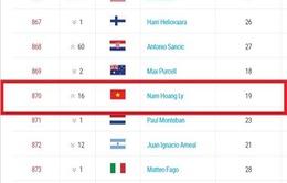Hoàng Nam tăng 16 bậc lên hạng 870 ATP