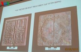 """Tọa đàm ấn """"Sắc mệnh chi bảo"""" phát hiện tại Hoàng Thành Thăng Long"""