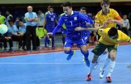 """Futsal Thái Lan """"vùi dập"""" Australia, giành vé bán kết giải châu Á"""