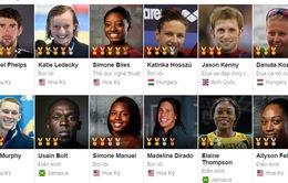 Những VĐV thành công nhất tại Olympic Rio 2016