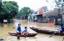 Mưa lớn gây ngập lụt tại Cẩm Xuyên, Hà Tĩnh