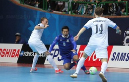 """Thua Uzbekistan ở loạt """"đấu súng"""", ĐT futsal Thái Lan mất vé vào chung kết"""