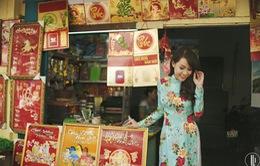 MC Trúc Mai duyên dáng diện áo dài đầu năm