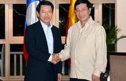 Phó Thủ tướng Phạm Bình Minh tiếp xúc song phương tại Siem Reap, Campuchia