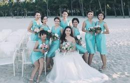 Mai Ngọc hé lộ ảnh cưới đẹp lung linh tại bãi biển Đà Nẵng