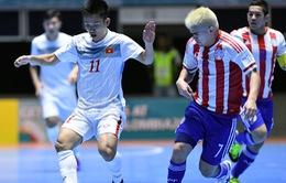 Futsal Việt Nam 1-7 Paraguay: Tỉ số cách biệt, Văn Vũ ghi bàn danh dự