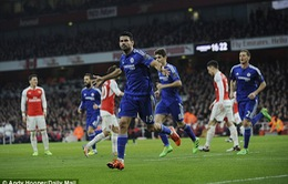 """Arsenal 0-1 Chelsea: """"Cáo già"""" Costa lại khiến Pháo thủ ôm hận"""
