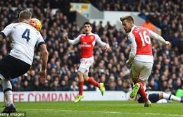 Ramsey giật gót ghi bàn khó tin, phá vỡ áp lực cho Arsenal