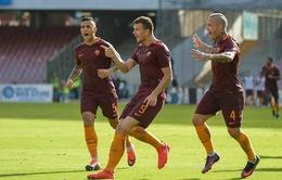 VIDEO, Napoli 1-3 AS Roma: Dzeko lập cú đúp, Roma thắng trận thứ 3 liên tiếp