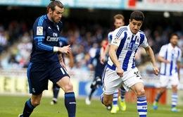 VIDEO: Real Sociedad 0-1 Real Madrid: Thắng hú vía, đoạt ngôi đầu
