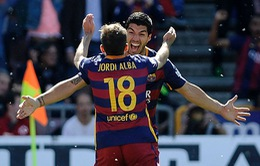 Suarez lập hat-trick, Barca đăng quang ngôi vô địch La Liga 2015/16