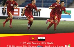 Hôm nay (20/10), K+ bình luận trực tiếp trận U19 Việt Nam – U19 Iraq
