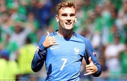 EURO 2016 vòng 1/8, Pháp 2-1 CH Ireland: Người hùng Griezmann đưa Pháp vào tứ kết!