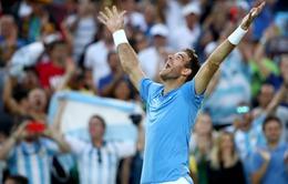 Olympic Rio 2016: Đánh bại Nadal, Del Potro hiên ngang vào chung kết quần vợt đơn nam!