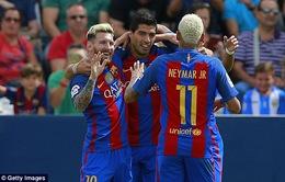 VIDEO, Leganes 1-5 Barcelona: Ấn tượng tam tấu MSN!