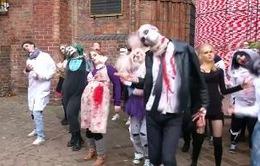 Nhảy flashmob chào đón Halloween tại Berlin, Đức