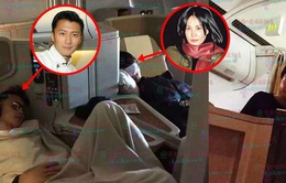 Tạ Đình Phong - Vương Phi bị chụp ảnh lén khi đang ngủ trên máy bay