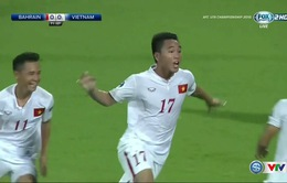 VIDEO: Trần Thành sút nối đẹp mắt mở tỷ số (U19 Việt Nam 1-0 U19 Bahrain)