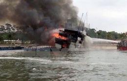Bà Rịa - Vũng Tàu: Cháy trên tàu chở hơn 4.600 tấn ngô