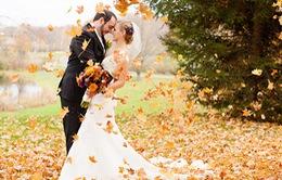 Những bức ảnh cưới tuyệt đẹp mang màu sắc của mùa thu