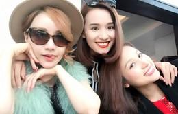 Vừa về nước, MC Thanh Vân Hugo rạng rỡ tụ tập cùng bạn thân