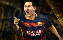 Lionel Messi lập kỷ lục 5 lần giành danh hiệu Quả bóng Vàng FIFA