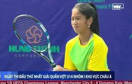 Giải quần vợt U14 châu Á: Lian Trần, Quang Trường thắng dễ