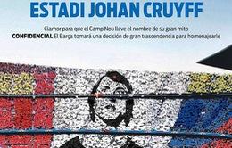 """Barcelona sẵn sàng """"xóa sổ"""" Camp Nou vì Johan Cruyff"""