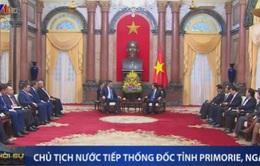Chủ tịch nước Trương Tấn Sang tiếp Thống đốc tỉnh Primorie, Nga