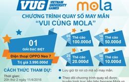 Mola tặng nhiều phần thưởng hấp dẫn cho cổ động viên Giải Thể thao sinh viên Việt Nam