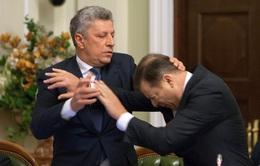 2 lãnh đạo ẩu đả kịch liệt trong Quốc hội Ukraine