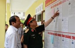 Đại tướng Ngô Xuân Lịch kiểm tra công tác chuẩn bị bầu cử