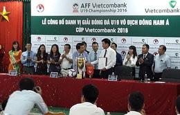 Vietcombank trở thành nhà tài trợ chính giải vô địch U19 Đông Nam Á 2016